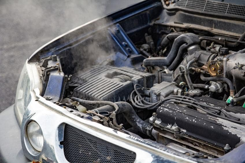 value of car with blown engine